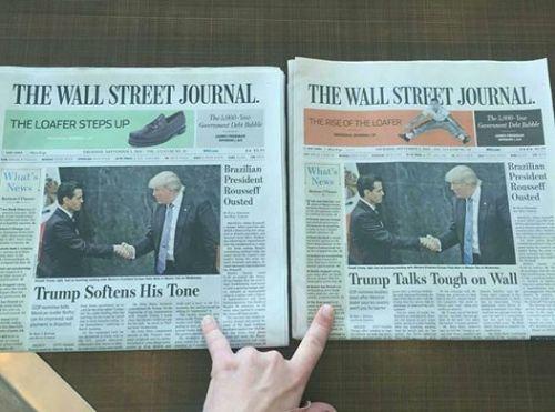 WSJ: Dos versiones de lo mismo.